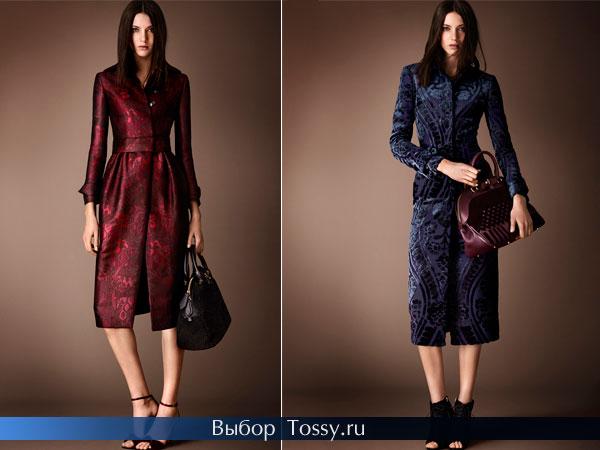 Красное и синее пальто с цветочными аппликациями
