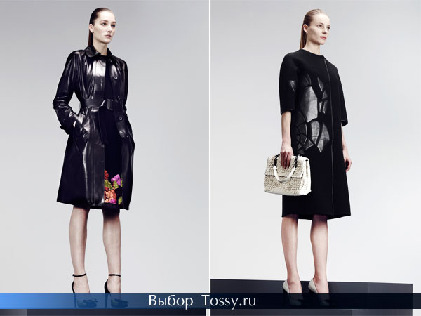 Черные женские пальто от Bottega Veneta