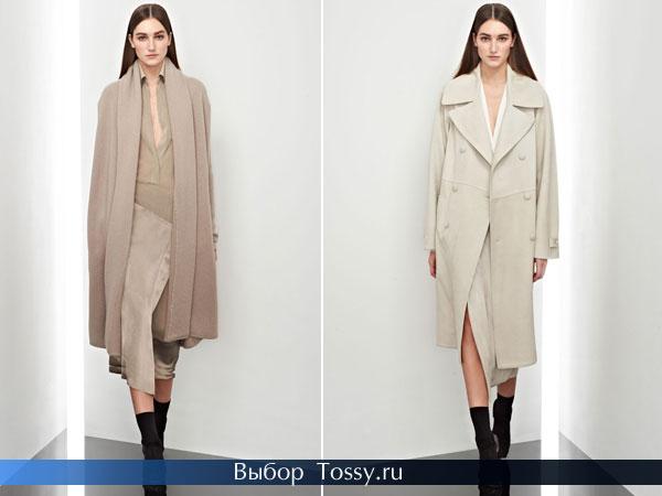 Пальто бежевых оттенков от Donna Karan