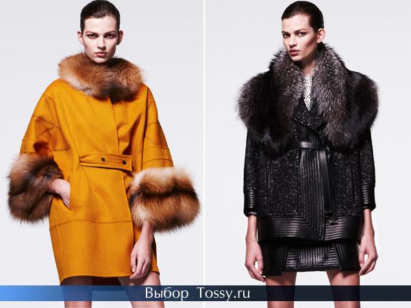 Демисезонные пальто с мехом