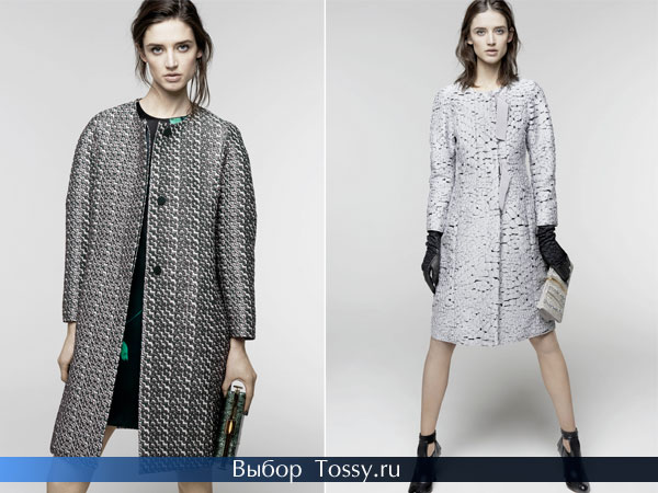Пальто с узором от Nina Ricci