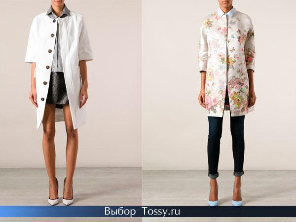 Фото белых пальто с цветочным принтом
