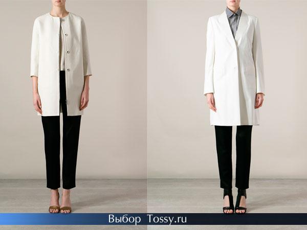 Фото строго белого пальто