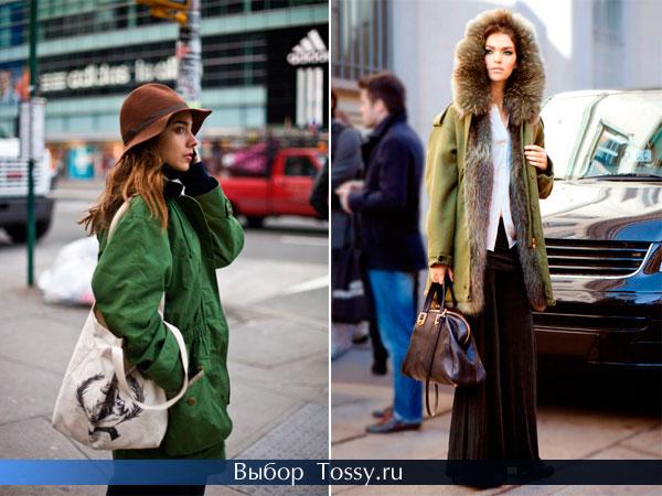 Зеленое пальто для рыжих девушек