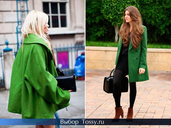 Женское бесформенное пальто