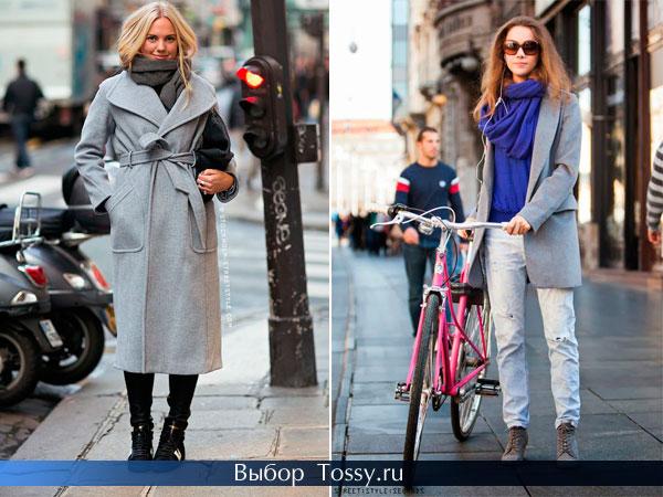 Шерстяное длинное пальто и осеннее пальто-пиджак