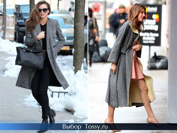 Фото пальто темно-серого цвета