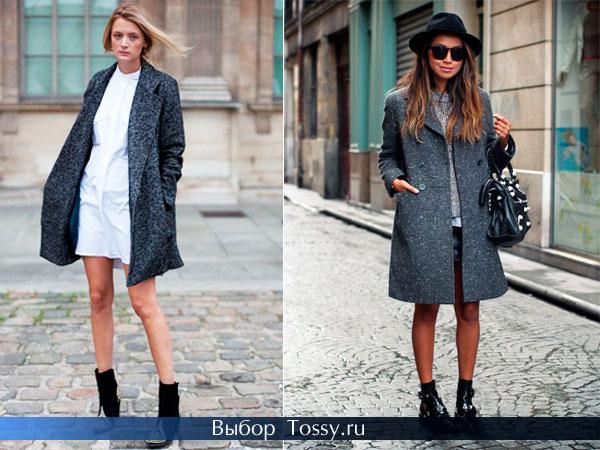 Модели пальто для девушек прямого кроя