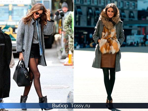 Зимнее пальто средней длины