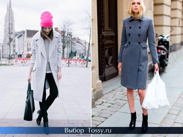 Женское приталенное пальто на пуговицах