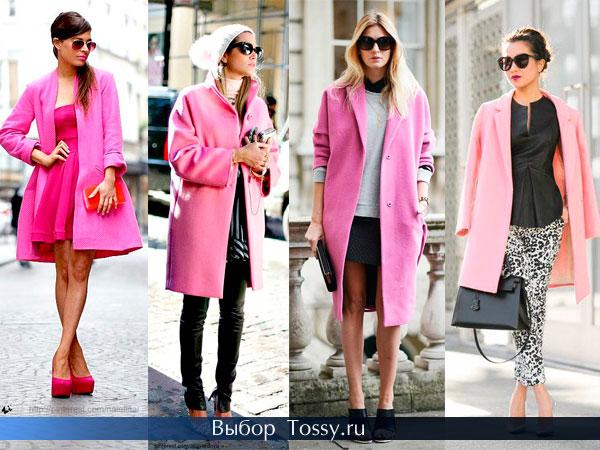 Фото розового пальто