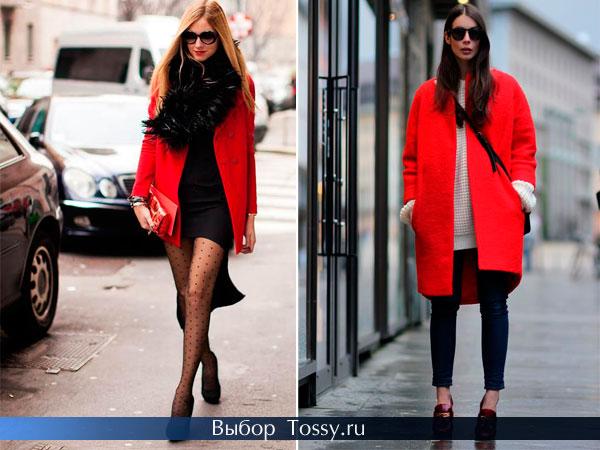 Короткое пальто-пиджак и женское бесформенное