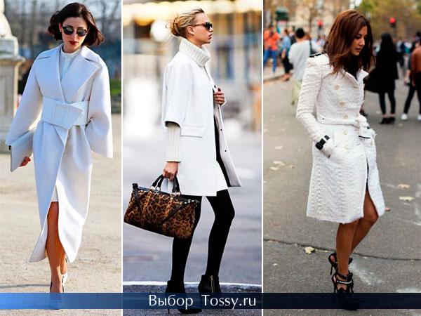 Фото белых пальто