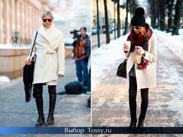 Теплое драповое и кашемировое пальто