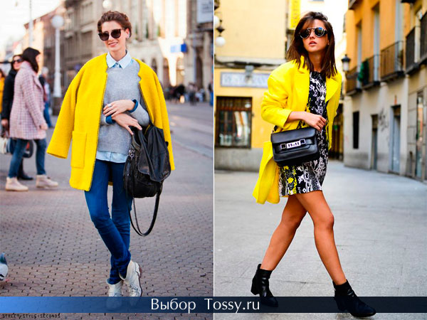 Женское пальто без воротника прямого кроя