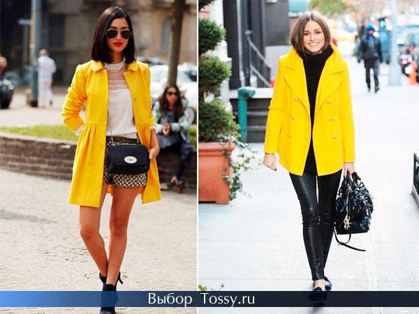 Пальто-платье и с большим воротником и карманами