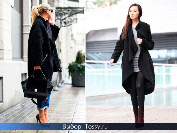 Пальто короткое спереди и длинное сзади