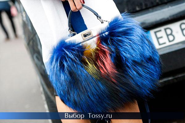 Меховые сумки и клатчи 2015