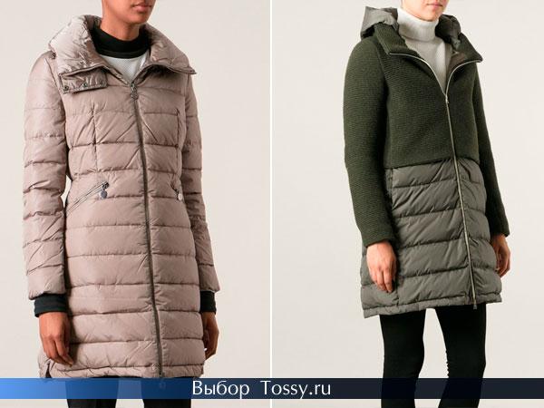 Зимние длинные женские куртки