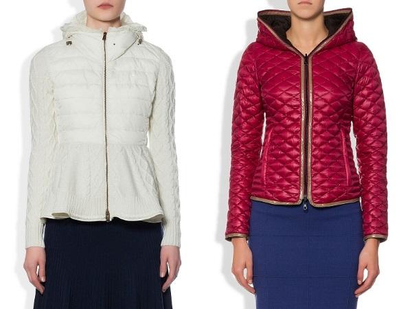стеганые куртки с приталенным фасоном