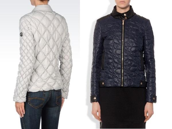 стеганые куртки с разной стежкой