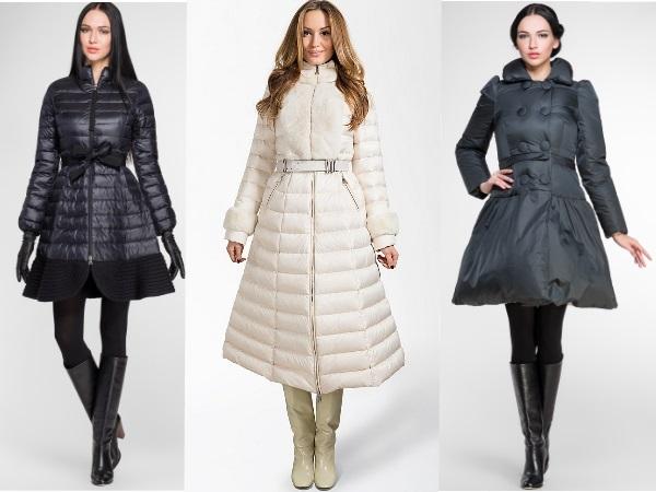 стеганные  приталенные пальто