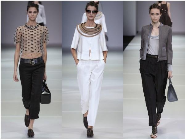 брюки  Giorgio Armani коллекция весна-лето 2015