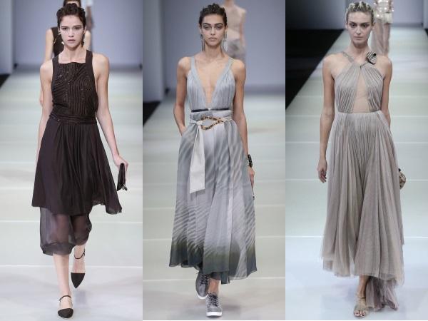 Платья из  коллекции Giorgio Armani весна-лето 2015
