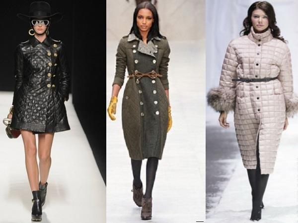 Стеганые пальто осень-зима 2015