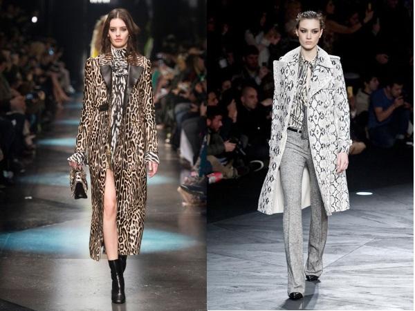 пальто леопардовое