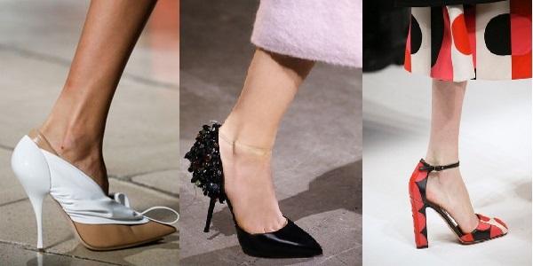 туфли модные на каблуке