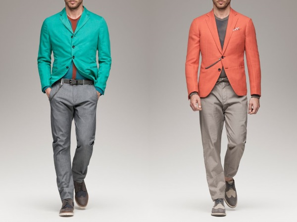 яркие пиджаки Армани