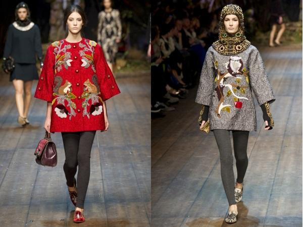 Dolce and Gabbana пальто с вышивкой
