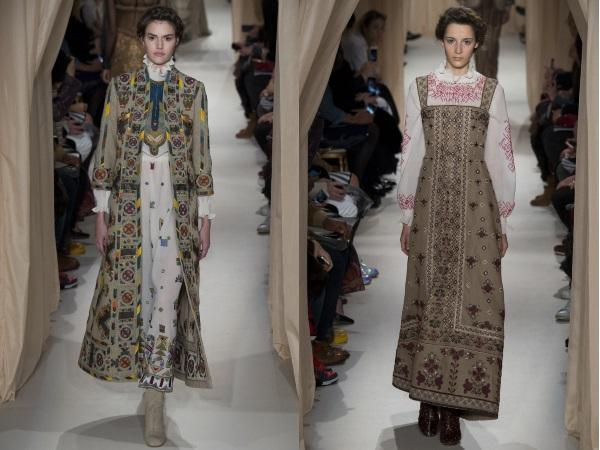 платья с вышивкой Валентино