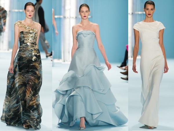 платья вечерние от Carolina Herrera