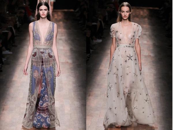 платья в пол Valentino
