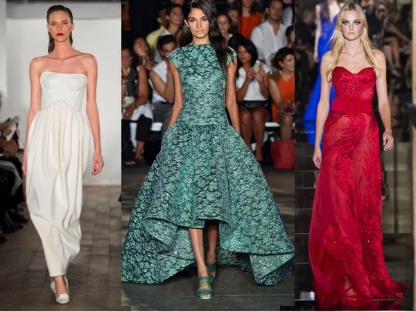 Длинные вечерние платья 2015Zac Posen, Christian Siriano, Versace