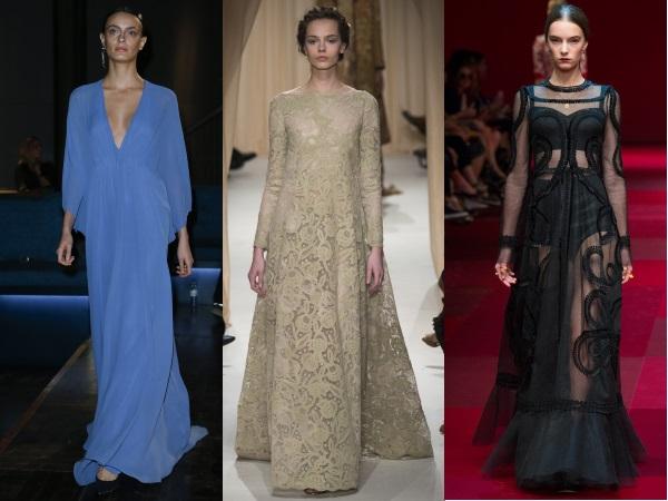 платья с длинным рукавом Lola  Berlin, Valentino, Dolce and Gabbana