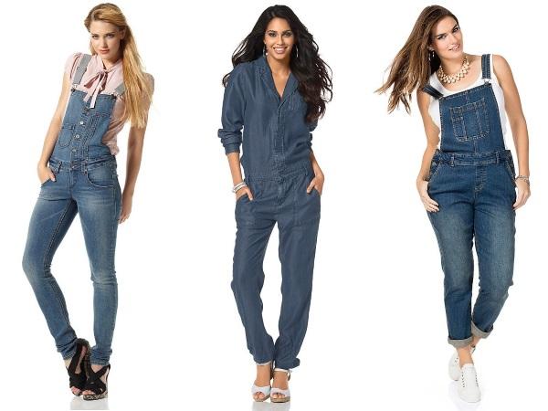 длинные джинсовые комбинезоны фото
