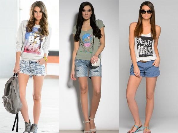 короткие джинсовые женские шорты