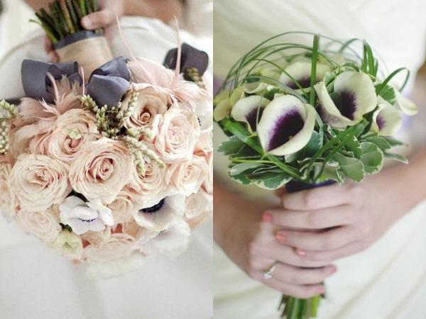Фото невест в платье айвори с букетом
