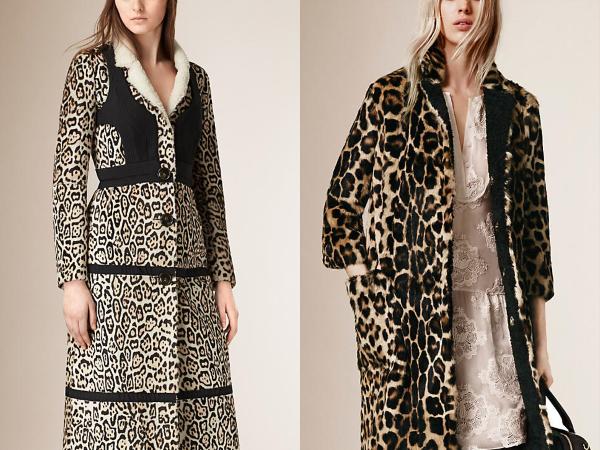 Зимнее пальто 2016 с анималистичным принтом