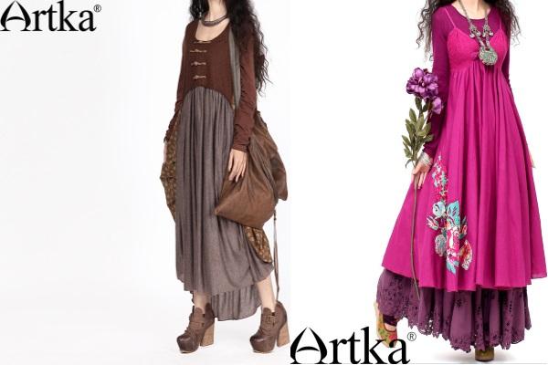 Многослойные широкие юбки
