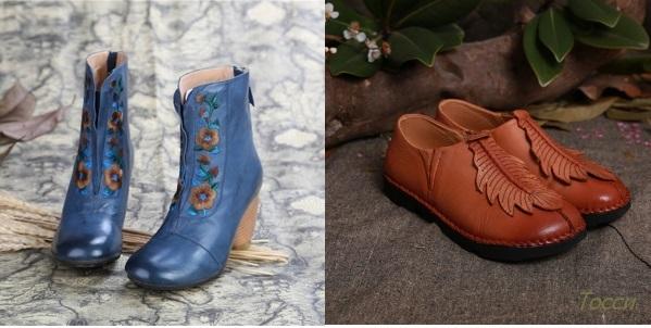 Обувь в стиле бахо-шик